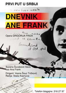 Dnevnik Ane Frank (Opera) - Madlenianum, Tiket Klub