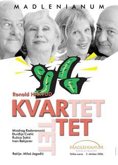 KVARTET (Drama) - Madlenianum, Tiket Klub