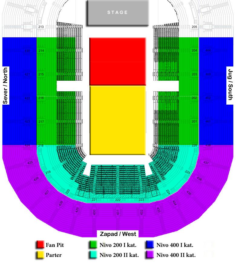 arena beograd mapa sedenja ACA LUKAS   BEOGRADSKA ARENA, Tiket Klub arena beograd mapa sedenja