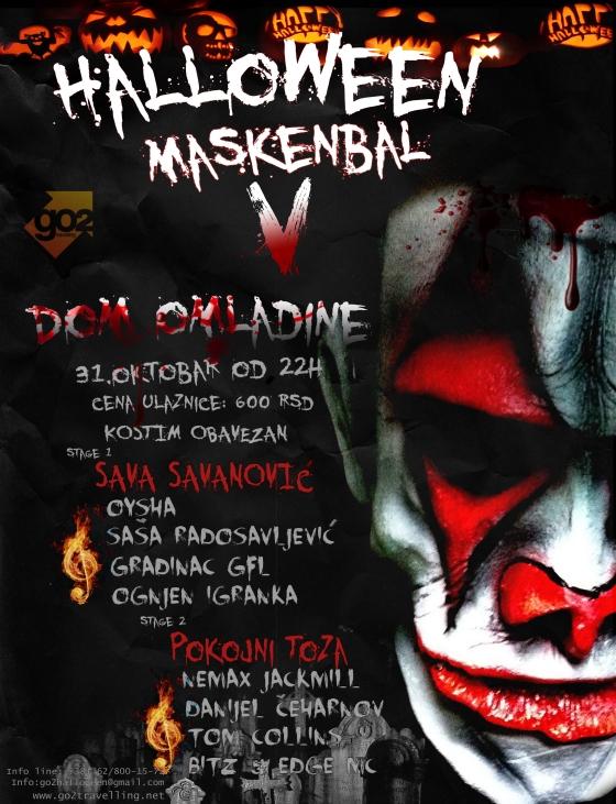 Halloween Maskenbal V - Dom Omladine, Tiket Klub