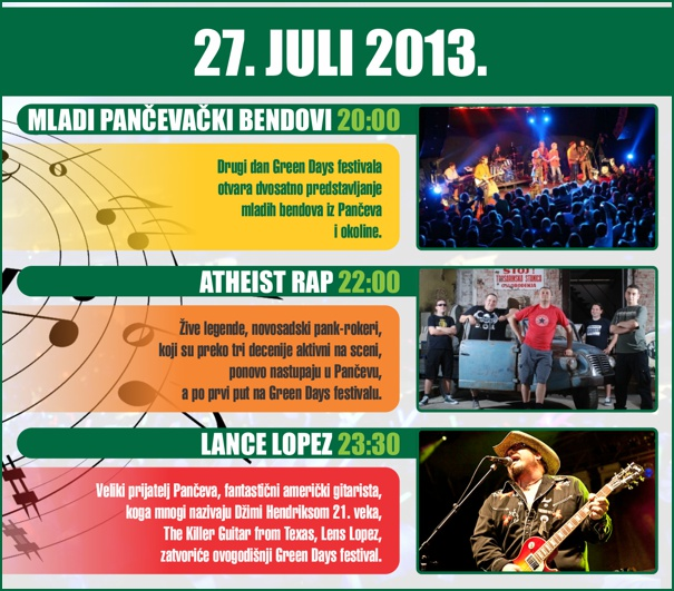 Green Days, Pancevo - letnja pozornica, Tiket Klub