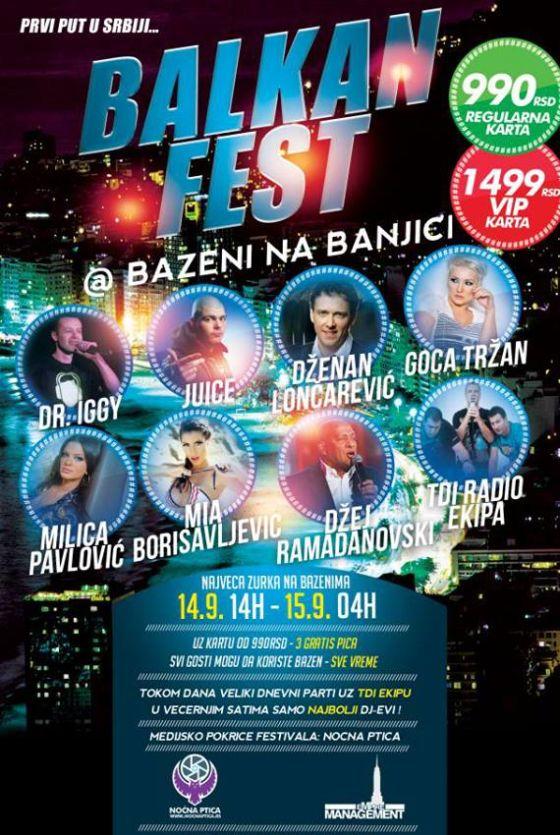 Balkan Fest 2013 - SRC BANJICA, Tiket Klub