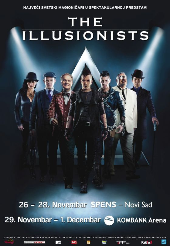 THE ILLUSIONISTS - SPC SPENS, Novi Sad, Tiket Klub