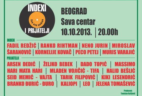 Indexi i prijatelji - sve ove godine - Sava Centar, Tiket Klub