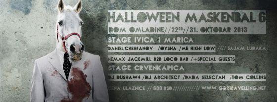 Go2 Halloween Maskenbal VI - Dom omladine Beograda