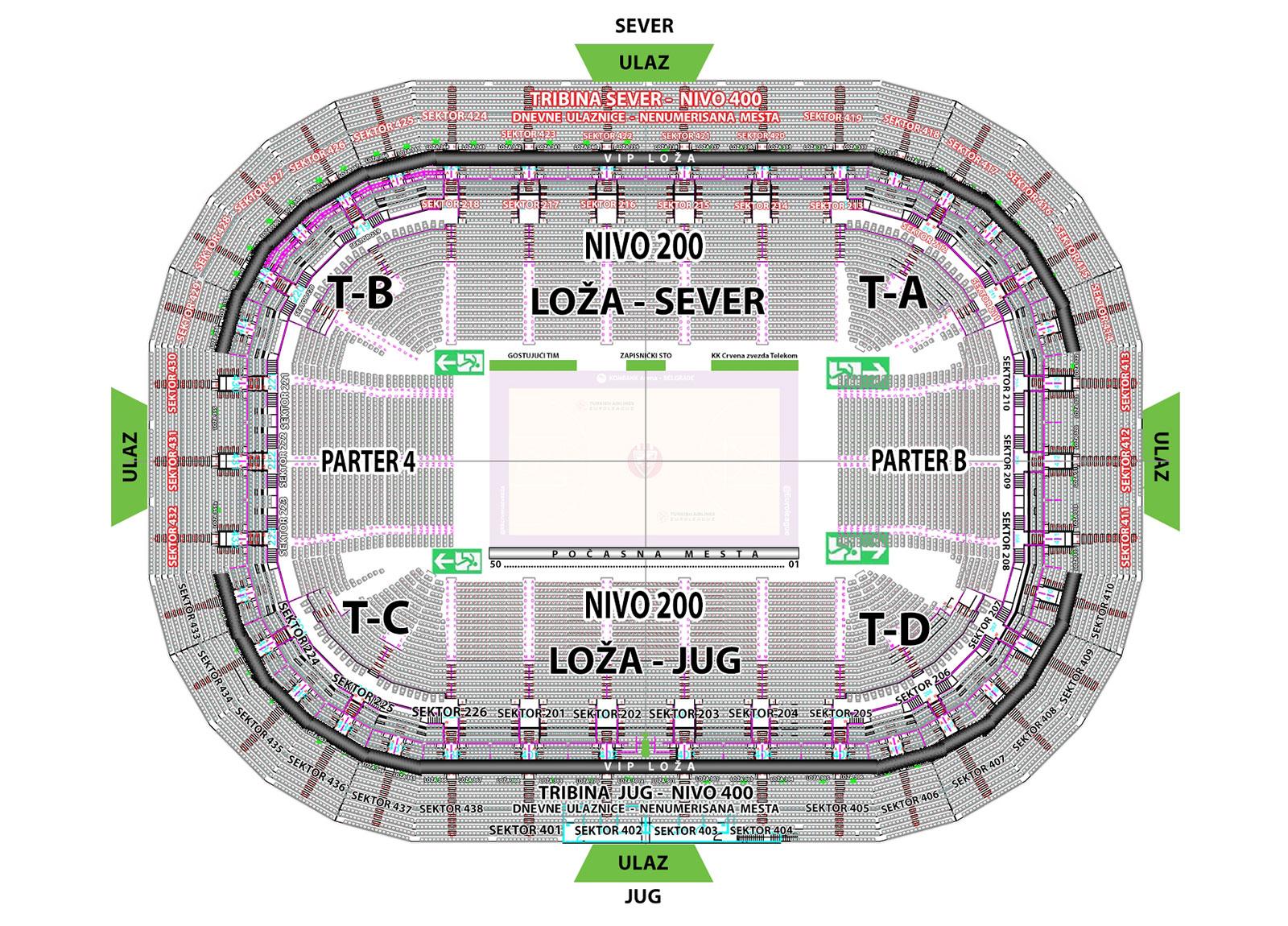 ABA LIGA F4 - Kombank arena, Tiket Klub