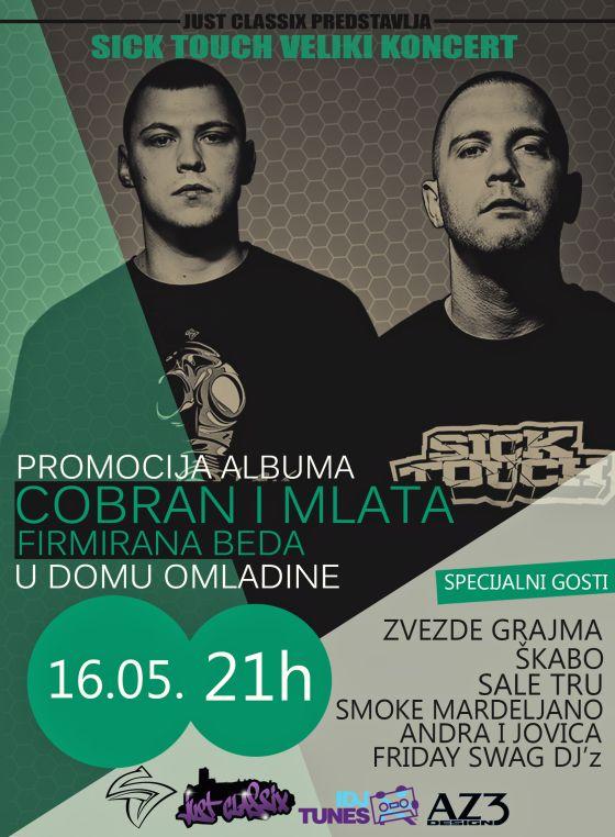Sick Touch - Dom omladine Beograda, Tiket Klub