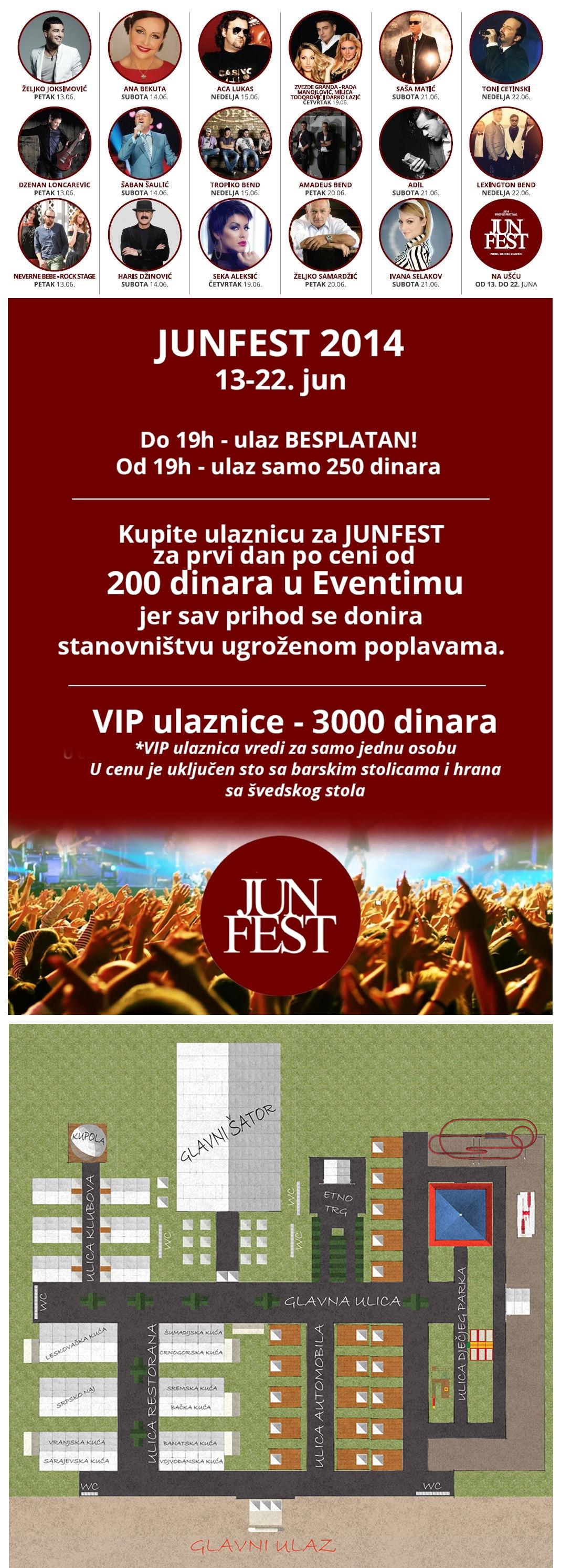 JUN FEST - Ušće Park, Tiket Klub