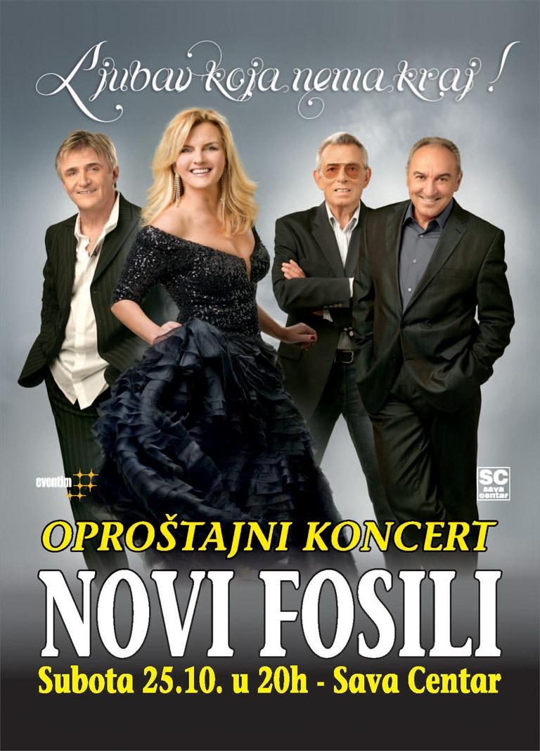 Novi Fosili - Oproštajni koncert - Sava Centar, Tiket Klub