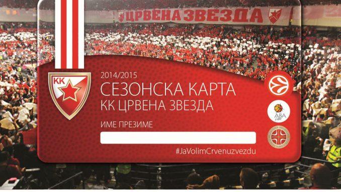 KK Crvena Zvezda - SEZONSKA ULAZNICA - HALA PIONIR - KOMBANK ARENA, Tiket Klub