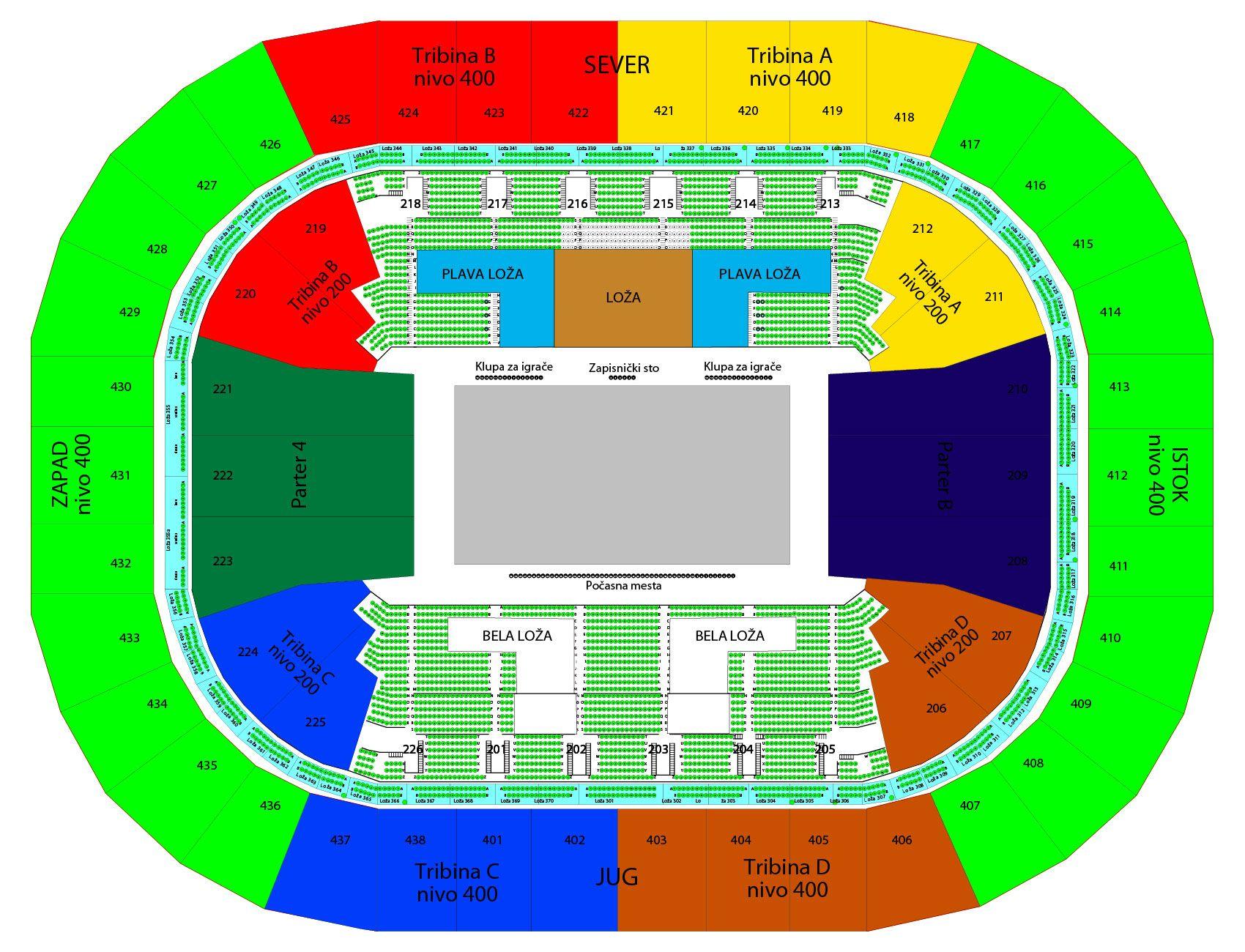 KK Crvena Zvezda - KK Olimpijakos - Kombank Arena, Tiket Klub