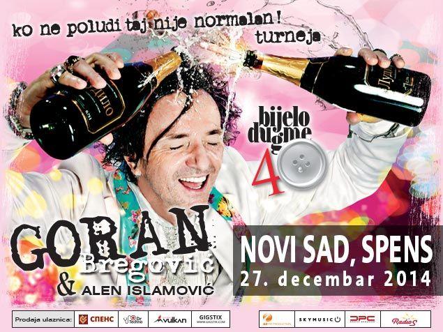 GORAN BREGOVIĆ - BIJELO DUGME - SPC SPENS, Tiket Klub