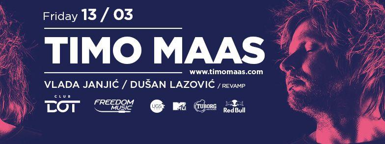 TIMO MAAS - Klub DOT, Tiket Klub