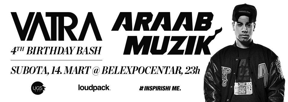 VATRA & ARAAB MUZIK - Belexpocentar, Tiket Klub