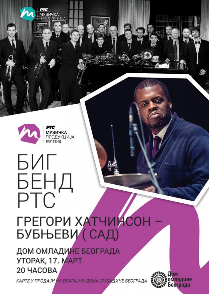 Big Band RTS & Gregory Hutchinson - Dom omladine Beograda, Tiket Klub