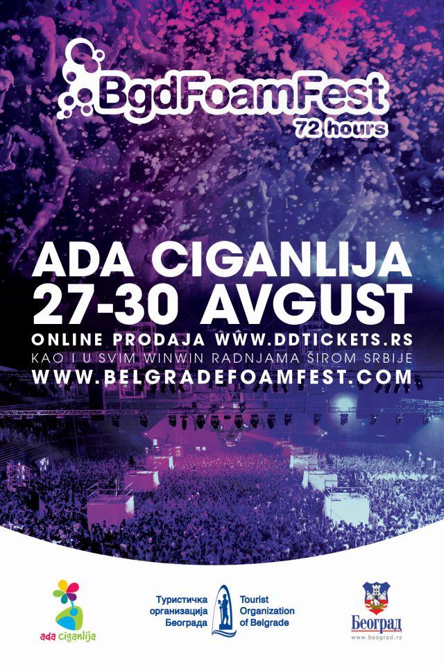 "BELGRADE FOAM FEST - JP ""Ada Ciganlija"", Tiket Klub"