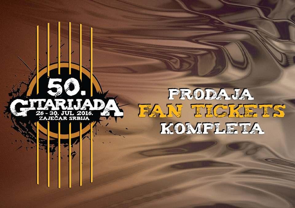 50. GITARIJADA - Zaječar - Gitarijada, Tiket Klub