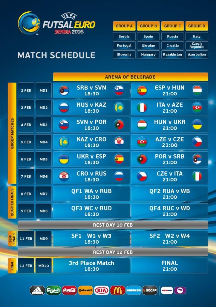 UEFA FUTSAL EURO 2016 - Arena Beograd, Tiket Klub