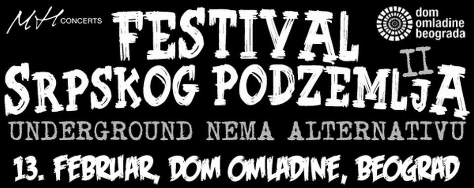 FESTIVAL SRPSKOG PODZEMLJA - II - Dom omladine Beograda, Tiket Klub