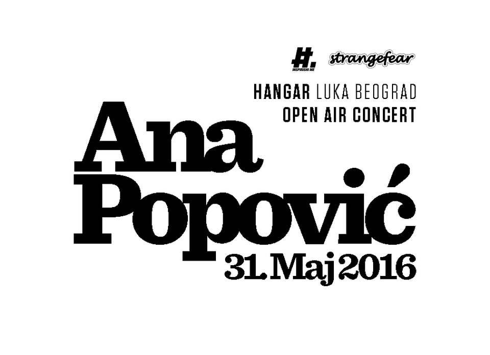 ANA POPOVIĆ - Hangar kod Luke Beograd