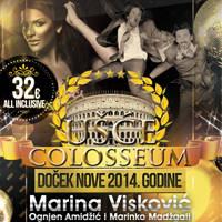 Doček nove 2014 - Ušće Colosseum, Tiket Klub