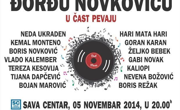 ĐORĐU NOVKOVIĆU U ČAST - Sava Centar, Tiket Klub